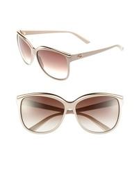 Gucci 62mm Cat Eye Sunglasses Beige One Size