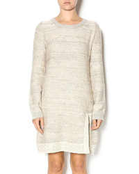 Hem Thread Lace Detail Sweater Dress