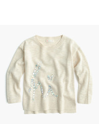 J.Crew Girls Crystal Hi Popover Sweater