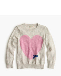 J.Crew Girls Heart You Popover Sweater