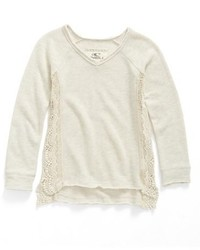 O'Neill Girls Mya Crochet Inset French Terry Sweatshirt