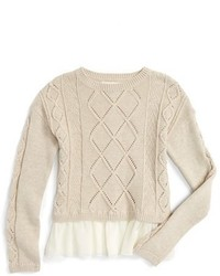 Girls Tucker Tate Cable Knit Sweater