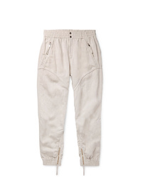 Isabel Marant Oarris Tapered Tencel And Linen Blend Trousers