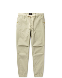 Beams Plus Slim Fit Tapered Grosgrain Trimmed Ripstop Drawstring Trousers