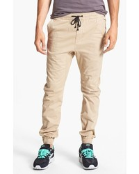 Zanerobe Sureshot Slim Tapered Leg Jogger Chinos Tan 34