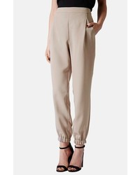 Topshop Tapered Crepe Track Pants
