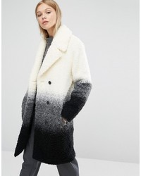 Beige Textured Boucle Coat