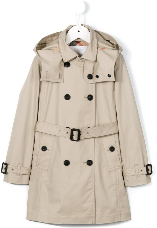 11161f9709bc4 ... Burberry Kids Hooded Trench Coat