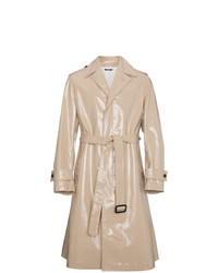 Beige high shine trench coat medium 7638410