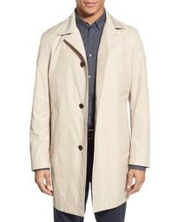 BOSS Dais Trim Fit Cotton Blend Raincoat