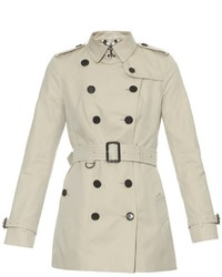 Burberry London Sandringham Short Length Gabardine Trench Coat