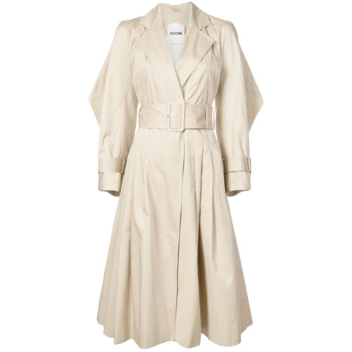 Koché Waist Flared Trench Coat