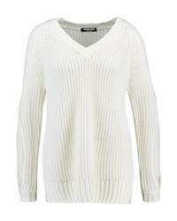 Fashion Union Orion Open Sleeve Jumper Cream