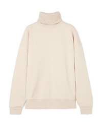 Helmut Lang Oversized Layered Cotton Turtleneck Sweatshirt