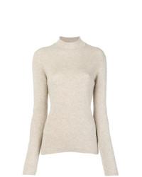 Ribbed roll neck sweater medium 8622022