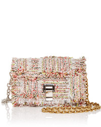 Beige Tweed Crossbody Bag