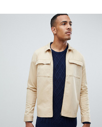 Another Influence Tall Zip Through Twill Pocket Shacket