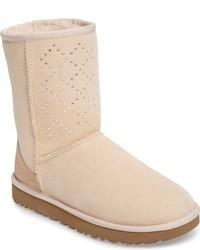 Ugg Classic Short Crystal Genuine Shearling Lined Boot