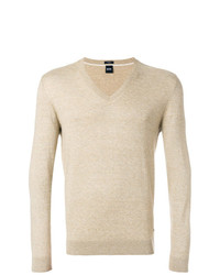 BOSS HUGO BOSS Fine Knit V Neck Pullover
