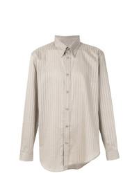 Martine Rose Asymmetric Striped Shirt