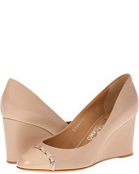 Beige wedge pumps original 9368219