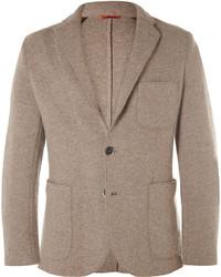Beige unstructured wool blend blazer medium 321120
