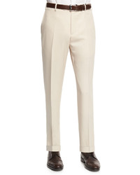 Beige Wool Dress Pants