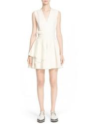 Alexander McQueen Fold Pleat Wool Dress