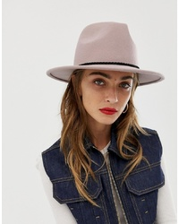ASOS DESIGN Felt Panama Hat With Plait And Size Adjuster