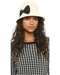 Kate Spade New York Shanghai Stiched Bow Cloche Hat
