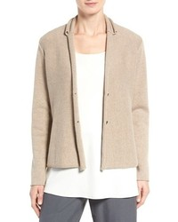Eileen Fisher Recycled Cashmere Merino Wool Sweater Jacket