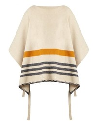 Chloé Chlo Tie Side Wool And Cashmere Blend Poncho