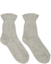 Beige Wool Socks