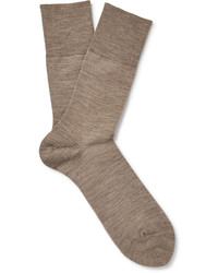 Airport mlange wool and cotton blend socks medium 642250