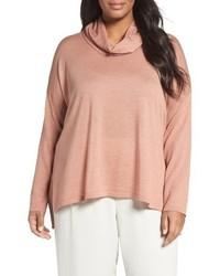 Eileen Fisher Plus Size Cowl Neck Ultrafine Merino Wool Sweater