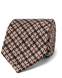 Rubinacci Puppytooth Cotton And Silk Blend Jacquard Tie