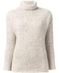 Beige Wool Top