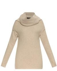 Draped roll neck wool blend sweater medium 374696