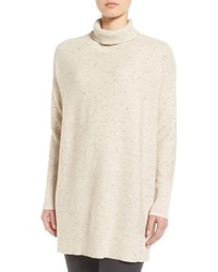 Eileen Fisher Peppered Organic Cotton Blend Turtleneck