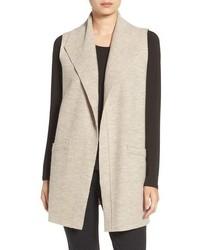 Eileen Fisher Funnel Neck Boiled Wool Vest