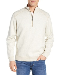 Beige Zip Neck Sweater