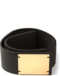 Black and Gold Elastic Waist Belt