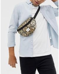 Spiral Bum Bag In Gold Print