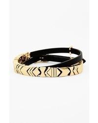 House Of Harlow 1960 Leather Wrap Bracelet