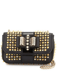 Black and Gold Leather Crossbody Bag