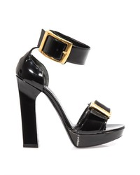 Alexander McQueen Gold Buckle Sandals
