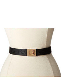 Black and Gold Leather Waist Belt