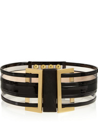 Patent leather and pvc waist belt medium 204521