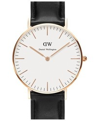 Daniel Wellington Classic Sheffield Leather Strap Watch 36mm