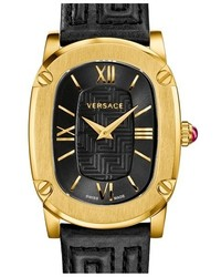 Versace Couture Oval Leather Strap Watch 24mm X 41mm
